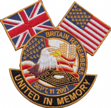 Britain Remembers 9/11 Twin Towers New York Embroidered Patch